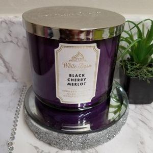 🕯️3-WICK Candle. Black Cherry Merlot fragrance